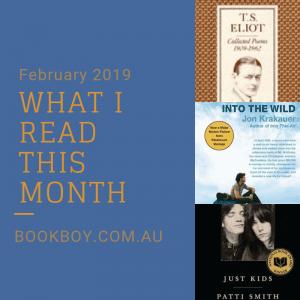 What I read February 2019 | bookboy.com.au